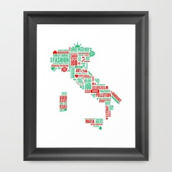 My ITALIA illustration is now available on Society6 as art print