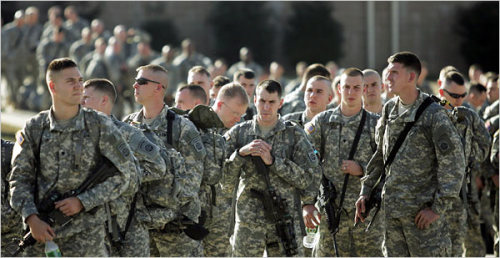 "thedailywhat:  In Iraq, US soldiers mark an important milestone — the first full month without a single fatality since the start of the war — just as their Afghanistan counterparts mourn the losses suffered during the deadliest month yet in the decade-long war. 66 service members were killed in the Afghani theater in August — nearly half in the deadly downing of a Chinook helicopter by Taliban insurgents on August 6th. 10,000 troops are expected to leave Afghanistan by the end of the year, with 23,000 drawing down by next summer; but 68,000 will be left behind with no exact exit date. In Iraq, where 4,465 soldiers have died since 2003, 48,000 troops remain. Though a death-free month serves to boost morale, it is important to note that August follows the deadliest month in three years, and it may be too early to tell if indeed the American-aided Iraqi offensive against Iran-backed militias is truly working to stabilize the country, or if the last month was merely ""a statistical blip."" [nyt / ap via armytimes.]"
