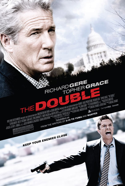 "I won't watch the trailer for The Double because it would ruin all the fun of this poster. It seems like the guy who wrote Wanted and 3:10 to Yuma wrote and directed a movie in which Topher Grace screams, ""KING KONG AIN'T GOT NOTHIN' ON TOPHER!"" When Topher Grace gets angry, he turns into Warwick Davis. Probably."