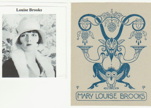 klg19:  Louise Brooks' bookplate.  WANT.  Found here.