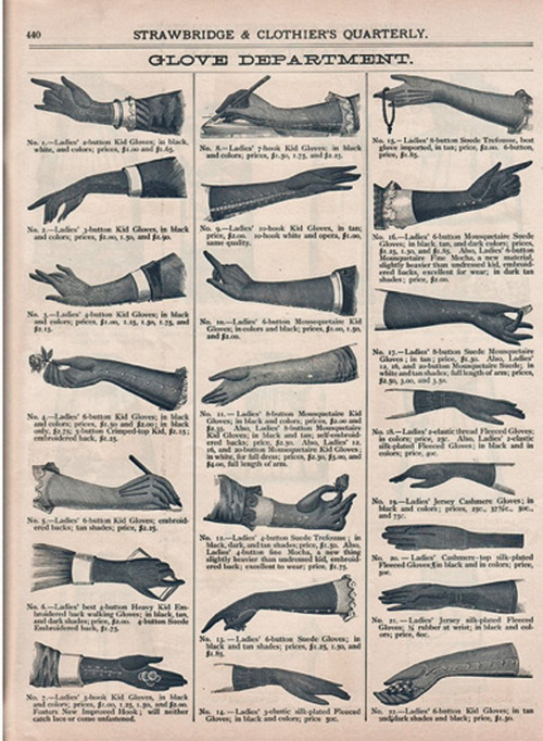 Strawbridge and Clothier's Quarterly gloves advertisement