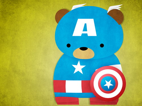 davewho:  brain-food:  Superhero Cuddly Bears byKing Panpan  LOL CUTE!