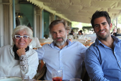 directorscuts:  A lovely lunch with Lina Wertmuller and Christoph Waltz in Venice.   More pix of the boys in blue.