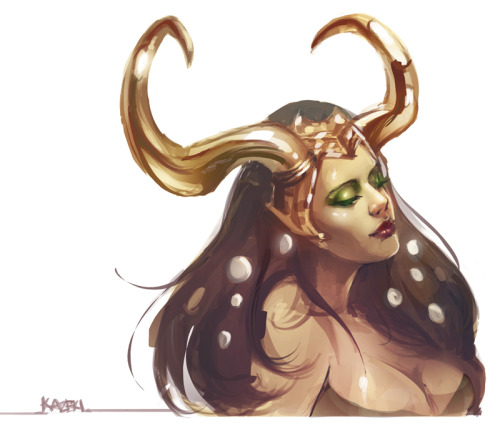 watermelonwings:  Sketch of Lady Loki. The damn tablet driver just wouldn't work properly so I had to lasso tool+gradient most of this. Pissed me off so badly!!   A+++. Gorgeous art, incredibly use of light.