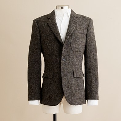 unclebeebo:  New to J.Crew - Harris Tweed Blazer w/ patch pockets.