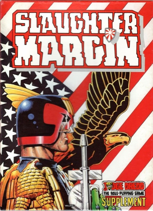 Slaughter Margin, Judge Dredd RPG scenario. Brian Bolland for Games Workshop, 1987