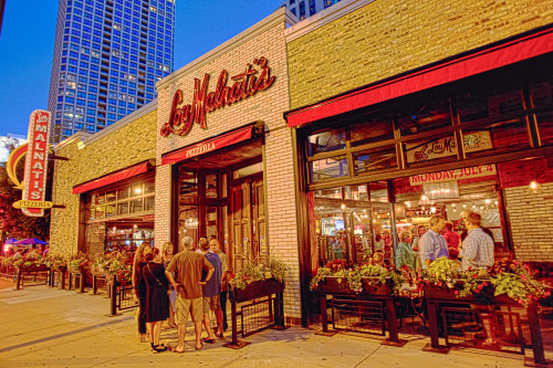 Lou Malnati's 33rd location in Chicago's Gold Coast.