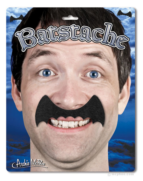archiemcphee:  Batstache - If Bruce Wayne grew facial hair, this is what it would look like.