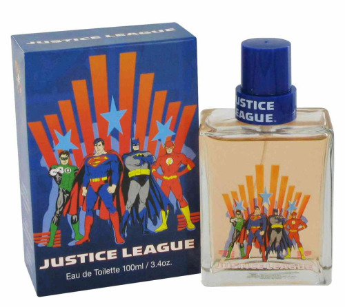 Oh that's a cute Justice League tee-sh…HOLY S*@$ JUSTICE LEAGUE PERFUME!!!!