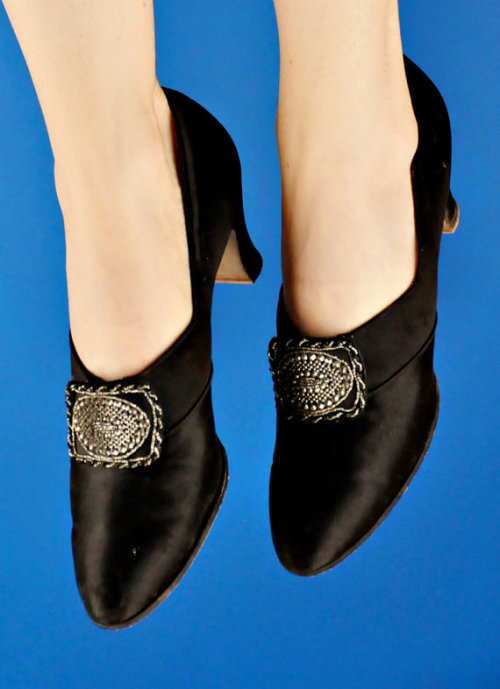 Edwardian silk pumps