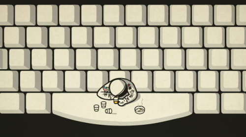 m4mystery:  Space Bar. Seems like he lost all CTRL  -dead-