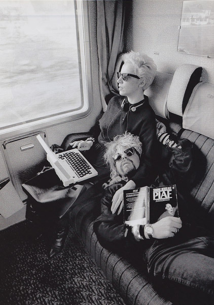 Eurythmics photographed by Claude Gassian Note Dave Stewart's book about Edith Piaf !
