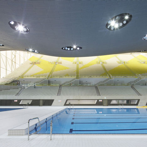 London Aquatics Centre 2012 by Zaha Hadid photographed by Hufton   Crow