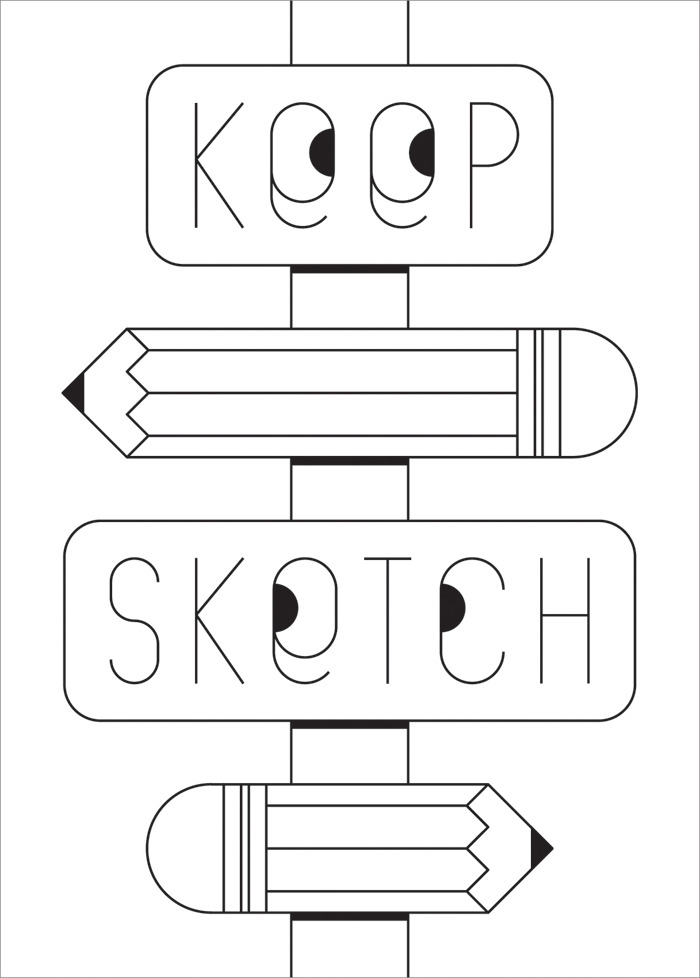 We're super-excited to post Dave Comiskey's awesome Keep Sketch Notebook cover design! Dave is an old friend of ours, and we're huge fans of his work, so we couldn't be happier to see him collaborate with us on this project. To get hold of one of Dave's notebooks, and to find out more about the Keep Sketch project, check out our Fund it project page.