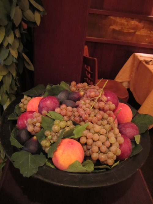 Bronx grapes, peaches, Mission figs, and plums for our 40th Anniversary fruit bowls