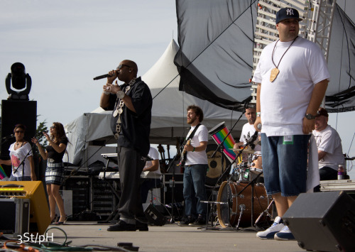 Mr. AT of The Lifted Crew performing with Slick Rick at this summer's Sountown festival while wearing our Slick Rick necklace piece. Get one for yourself right now!!