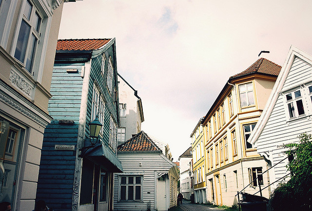 | ♕ |  Hillside street - Bergen, Norway  | by © Jim Holland