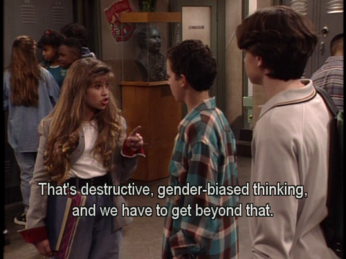 Lessons I learned from Boy Meets World. prometheusfuckinglied:  YES TOPANGA YES