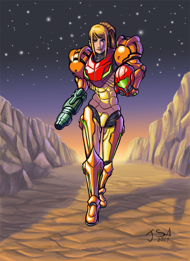 svalts:  Samus Aran - by Javier Sánchez   Playing Metroid on my 3DS :3