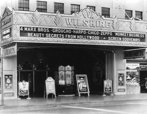 The Fox Wilshire Theatre in Los Angeles, CA - 1931