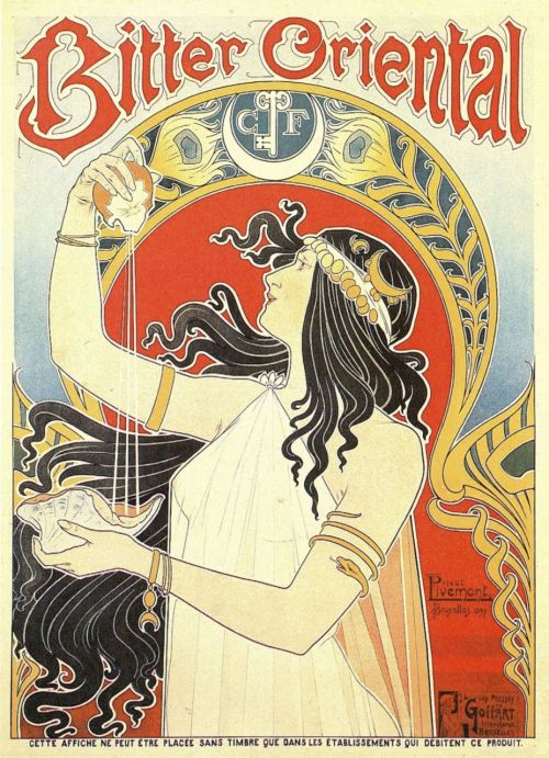 "cabbagingcove:  ""Bitter Oriental"" advert poster From the Netherlands, 1897"
