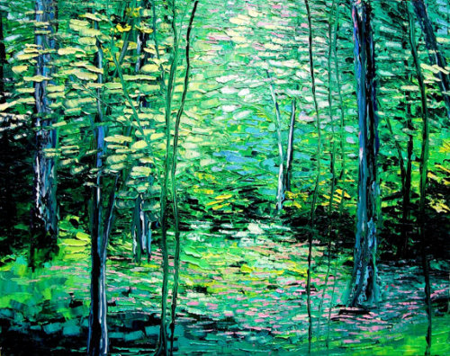 (via Timberland 22x28 impasto spring forest by sagittariusgallery) one of my favourite artists on etsy.