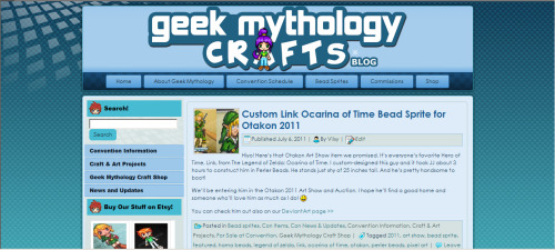 Geek Mythology Cafts Website Blog Face-Lift! We finally gave our website's blog a much-needed face-lift. Now the only trouble is actually keeping the thing updated……. BABY STEPS!