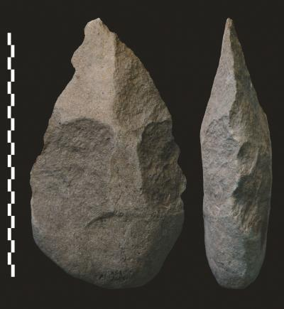 Early humans were using stone hand axes as far back as 1.8 million years ago. Credit: Pierre-Jean Texier, National Center of Scientific Research, France A new study suggests that Homo erectus, a precursor to modern humans, was using advanced toolmaking methods in East Africa 1.8 million years ago, at least 300,000 years earlier than previously thought. The study, published this week in Nature, raises new questions about where these tall and slender early humans originated and how they developed sophisticated tool-making technology. [Read More]