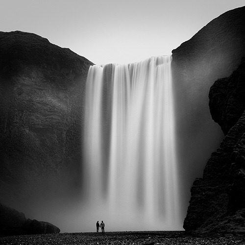 black-and-white:  skogafoss (by ___BoeR___)