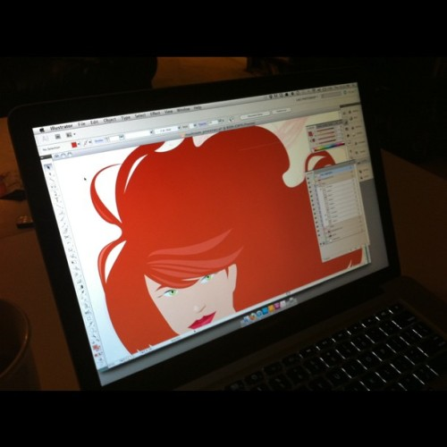 Time for some vector love. #pentool #illustrator #pinup  (Taken with Instagram at Home)