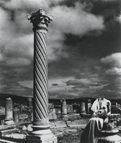 billyjane:  Nu - Ruines de Volubilis,1937 from Les Fantasmagories du Nu series by  Pierre Boucher  from RMN