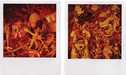 heroinkilledtherockstar:  Polaroids taken by Kurt Cobain for In Utero.