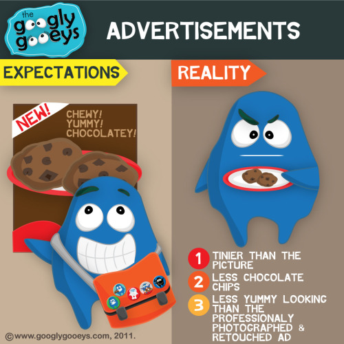 googlygooeys:  Adverstisements: Expectations vs. Reality Which ad have you been a victim of?
