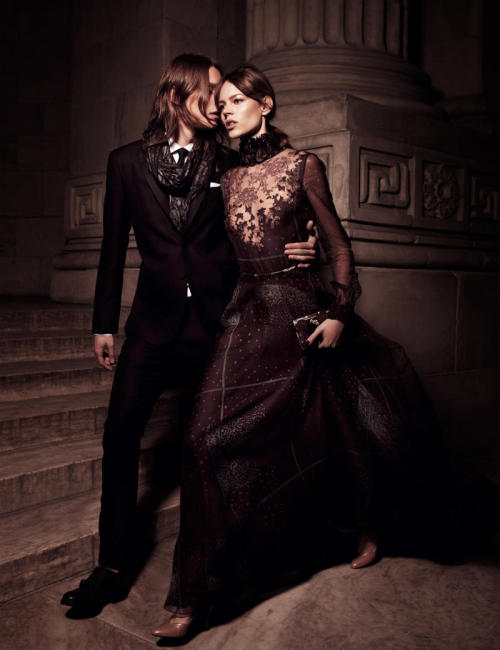 """Valentino: State of Grace"" Interview Magazine, May 2011 photographer: Mikael Jansson Freja Beha Erichsen in Valentino, Fall 2011 Ready-to-Wear Freja Beha Erichsen in Valentino for Interview May 2011"