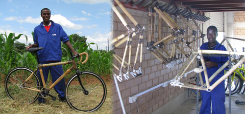 Bamboo bikes made in Zambia, sold around the world After writing about two different bamboo bicycle projects in Africa in the past few years, we recently came across further evidence that the concept is catching on. Zambia is the focus this time, however, thanks to Zambikes, which builds bikes in that country for sale around the world. READ MORE…