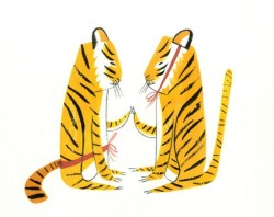 secretdaydream:  Tigers drawn by Ping Zhu are the best kind of tigers.
