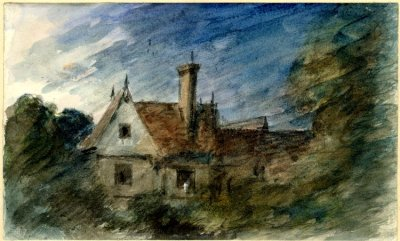 Constable, house among the trees, #drawing #watercolor #art  © The Trustees of the British Museum Department: Prints & Drawings
