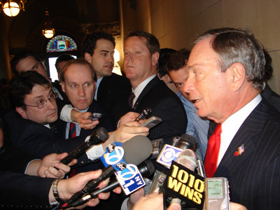 azipaybarah:  From my Briefing over at Capital New York:  Michael Bloomberg's silence—and however else you want to characterize the way he first described Stephen Goldsmith's departure last month—has made him an irresistibly easy target. The New York Post editorial board has used the occasion of their big scoop on this story to question Bloomberg's transparency credentials, which could be sort of a second-tier meme if this story rolls over into next week. Which maybe it will, if the mayor continues his blackout of public appearances through the weekend.