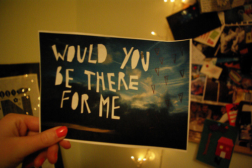 yoursweetesttemptation:  Would you stay with me until the very end?