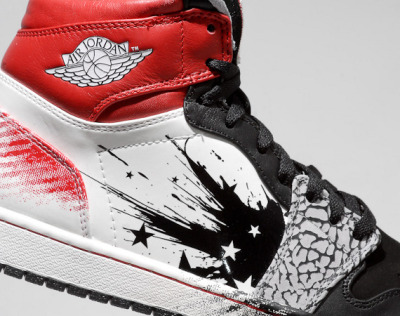 "The Dave White Air Jordan 1… cement goes good with everything.""Spilling Ace on my sick J's"""