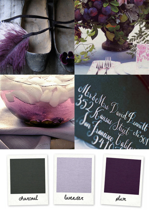 (via Color Board #6: Charcoal and Plum :: Snippet & Ink)
