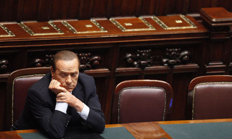 "Berlusconi vows to leave ""shitty"" Italy In a sign of his frustration at the investigations into his alleged crimes and misdemeanours, Silvio Berlusconi vowed in July to leave Italy, which he described as a ""shitty country"" that ""sickened"" him. The Italian prime minister's astonishing remarks are contained in the transcript of a telephone conversation secretly recorded by police investigating claims he was being blackmailed about his sex life. (via Berlusconi vows to leave 'shitty' Italy in conversation recorded by police 