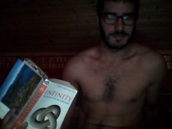 engineeringdreams:  My submission for naked reading. Also, Abi your postcard came today :D  Love x Infinity.