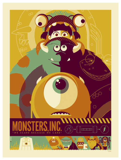 oliphillips:  Mosters Inc Poster by Tom Whalen