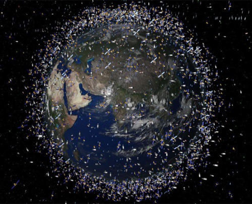 "discoverynews:  Space Junk Problem Reaches Tipping Point  It's bad news for all you aspiring space tourists out there. Soon, the only ticket into space may be of the suborbital variety and nothing more ambitious, like actually flying into orbit. Earth is now surrounded by so much space junk that a leading expert  on the issue has declared that we are at a ""tipping point"" — it may  soon become too dangerous to venture into low-Earth orbit (LEO) through  fear of having a manned spaceship punctured or a communications  satellite trashed.  Ian O'Neill on the nightmare scenario of the Space Age. Read more"