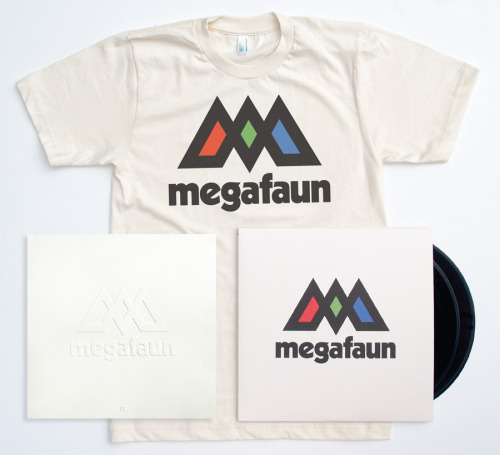 "It's September and we can't hold back any longer. This new Megafaun album. It's huge. It's pushed us to our limits — and we're not coming back. The world's a better place. And finally: we get to share. As of today, you can pre-order Megafaun. For our amazing mailorder customers (you've kept us going all these years) and for the fans (growing like kudzu), we've prepared a special pre-order package.  Each package includes: The album in the format of your choice: 2xLP (with download code) or compact disc. The first edition of the new Megafaun logo tee. Printed in four colors on American Apparel's super-soft and environmentally-friendly organic cotton t-shirt.  A special edition, 12""x12"", embossed, inkless(!) Megafaun poster. 80 lb. natural white stock. Hand-numbered. Limited. AND: All Megafaun pre-orders will ship before release date — on September 15, 2011. While supplies last, of course. You can also just pre-order the 2xLP or CD by themselves. Have at it. Click HERE to learn more about the amazing packaging and to pre-order today."