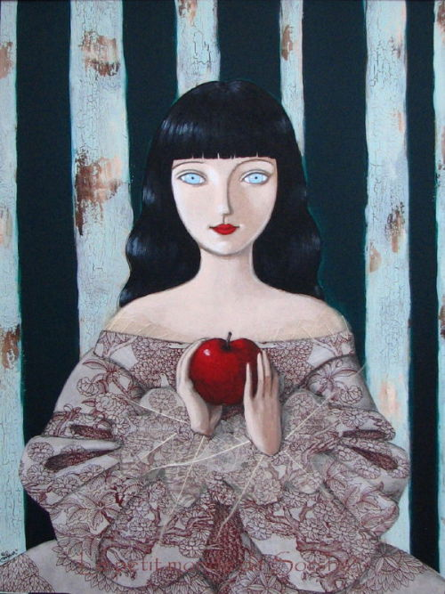 "fairytalemood:  ""Blanche Neige"" by Sorsha  Love her dress."