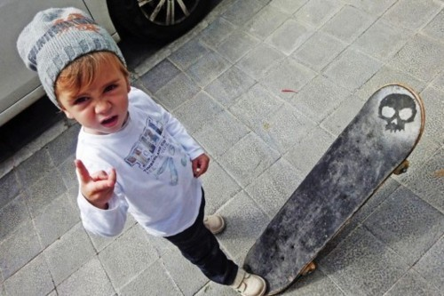 too cute! my lil man has a board too!