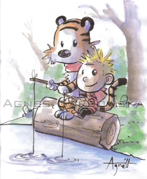 Here is a Calvin and Hobbes Commission I did at the Fan Expo this year. I love how it came out since I am a huge fan of Calvin and Hobbes. Thank you Ryan Cross for sending me a scan of this piece! Now I can post a nice scan for you all to see!  Enjoy!