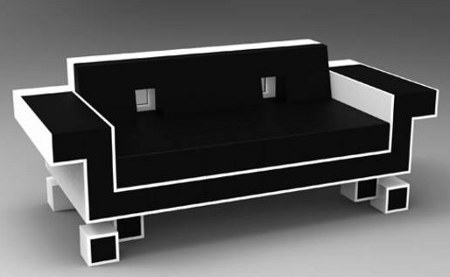 Space Invader Sofas.